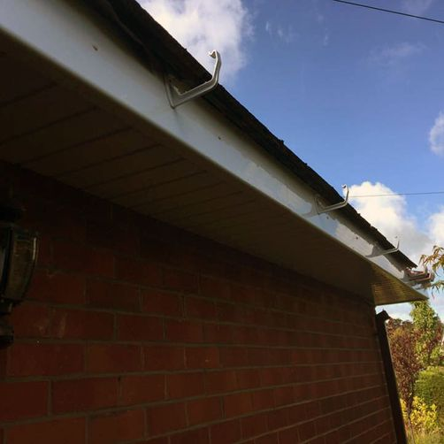 gutter roof installation by d richards roofing